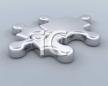 Royalty Free Clipart Image of an Unfinished Puzzle