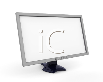 Royalty Free Clipart Image of a Screen