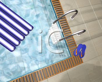 Royalty Free Clipart Image of a Swimming Pool