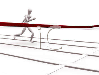 Royalty Free Clipart Image of a Coming Up to the Finish Line