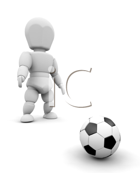 Royalty Free Clipart Image of Person With a Football