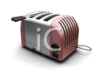 Royalty Free Clipart Image of a Toaster