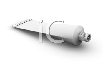 Royalty Free Clipart Image of a Blank Tube