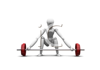 Royalty Free Clipart Image of a Weightlifter