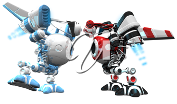 Royalty Free Clipart Image of two web crawlers.