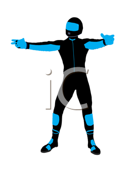 Royalty Free Clipart Image of a Biker