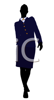 Royalty Free Clipart Image of a Woman in a Suit