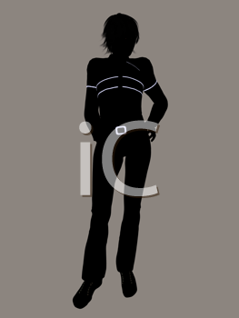 Royalty Free Clipart Image of a Guy