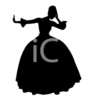 Royalty Free Clipart Image of Cinderella