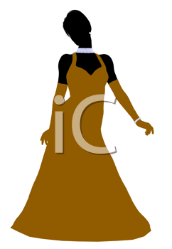 Royalty Free Clipart Image of an Evening Gown