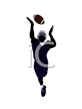 Royalty Free Clipart Image of a Football Player