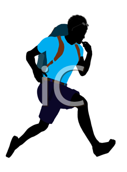 Royalty Free Clipart Image of a Hiker