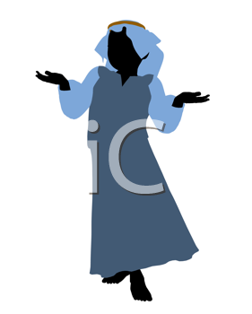 Royalty Free Clipart Image of a Nativity Figure