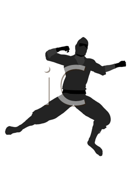 Royalty Free Clipart Image of a Ninja