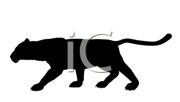 Royalty Free Clipart Image of a Panther