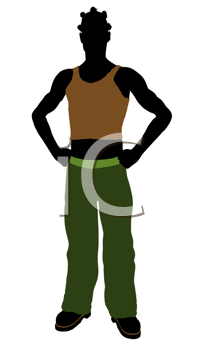 Royalty Free Clipart Image of a Casual Guy