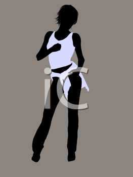 Royalty Free Clipart Image of a Casually Dressed Woman