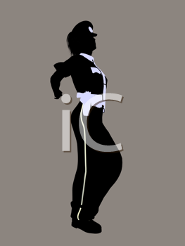 Royalty Free Clipart Image of a Female Police Officer