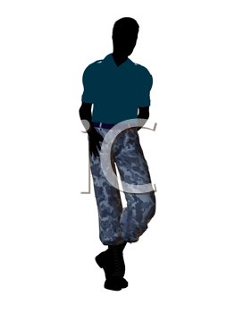 Royalty Free Clipart Image of a Soldier