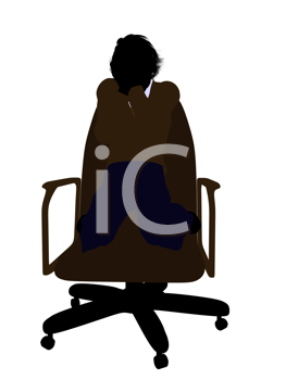 Royalty Free Clipart Image of a Boy Sitting in a Chair