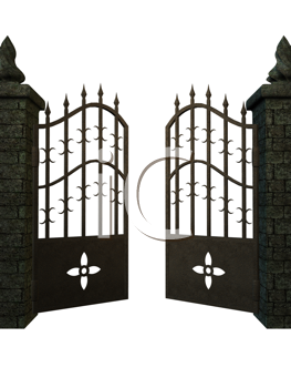 Royalty Free Clipart Image of a Fantasy Gate