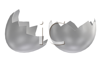 Royalty Free Clipart Image of a Cracked Egg