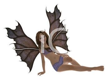 Royalty Free Clipart Image of a Fairy