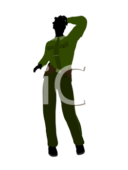 Royalty Free Clipart Image of a Female Sheriff