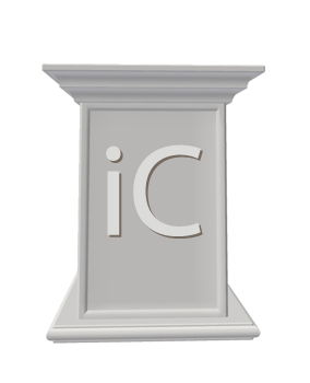 Royalty Free Clipart Image of a Pedestal