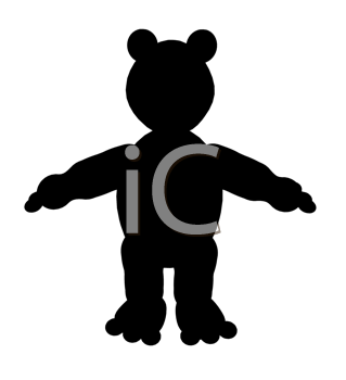 Royalty Free Clipart Image of a Teddy Bear Silhouette