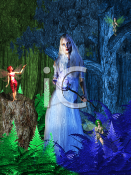 Fairy negotiating with the winter soltice