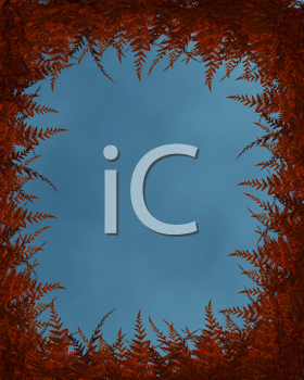 Royalty Free Clipart Image of a Leaf Frame