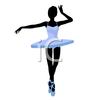 Royalty Free Clipart Image of a Ballerina Silhouette