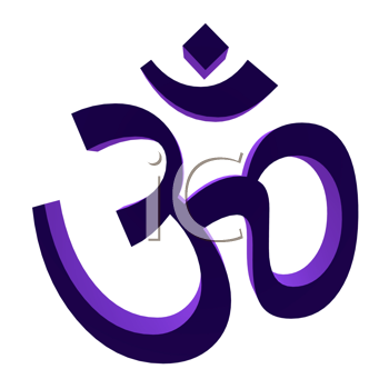 Royalty Free Clipart Image of a Symbol for Ohm