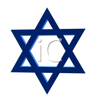 Royalty Free Clipart Image of a Star of David