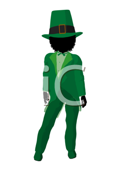 Royalty Free Clipart Image of a Girl Leprechaun