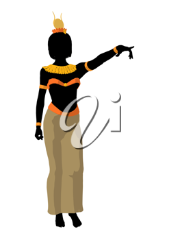Royalty Free Clipart Image of an Egyptian Woman