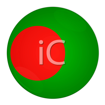 Abstract illustration: button with flag from Bangladesh country