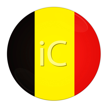 Abstract illustration: button with flag from belgium country