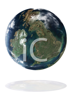 Great Britain on the Earth planet. Data source: Nasa