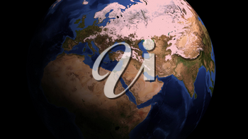 Video animation of a world map showing coronavirus infects the planet