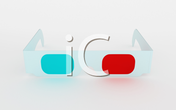 Royalty Free Clipart Image of Cinema 3D Glasses