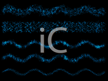 Royalty Free Clipart Image of Abstract Blue Swirls