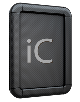 Royalty Free Clipart Image of a Carbon Fiber Lightbox