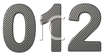 Royalty Free Clipart Image of Carbon Fiber Numerals