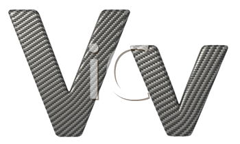 Royalty Free Clipart Image of a Capital and Lowercase V