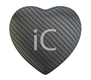 Royalty Free Clipart Image of a Carbon Fiber Heart