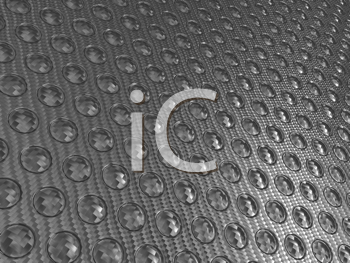 Royalty Free Clipart Image of Abstract Carbon Fiber With Buttons