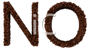 Royalty Free Clipart Image of Roasted Coffee Font N and O