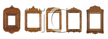 Royalty Free Clipart Image of Wooden Frames